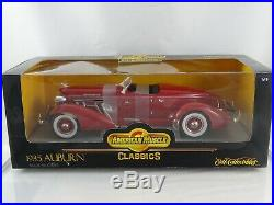 118 Ertl Américain Muscle #7995 1935 Auburn Rouge Neuf / Emballage D'Origine