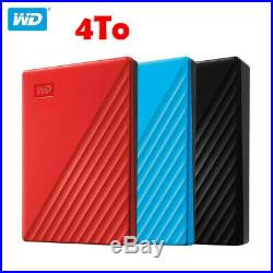 2019 Neuf Disques durs externe 4To 2.5 Western Digital WD My Passport 4TB USB3