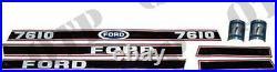4483 Pour Neuf Holland Autocollant Ford 7610 Force 2 Rouge & Noir Pack De 1