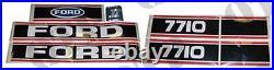 4491 Pour Neuf Holland Autocollant Ford 7710 Force 2 Rouge & Noir Pack De 1