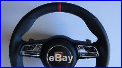991.2 Pdk Multi Fonction Neuf Style Noir Haut Rouge Volant & Airbag Adapté 991.1
