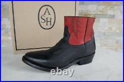 ASH Taille 36 Chaussures Bottines Pays Vintage Prince Noir Rouge Neuf Autrefois
