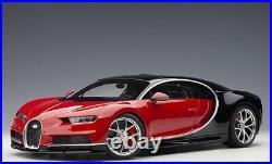 AUTOart 12113 1/12 Bugatti Chiron 2017 (Italien Rouge / Nocturne Noir) Neuf