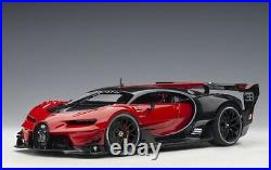 AUTOart 70988 1/18 Bugatti Vision Gt 2015 Italien Rouge/Noir Carbone Neuf