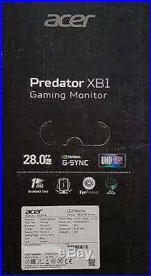 Acer Predator XB281HK 71 cm (28 Zoll) Uhd Écran, 1ms, Noir/Rouge Neuf et Scellé