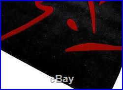 Action Tapis Toff Asie Premium Handtuft Noir Rouge Neuf