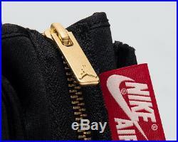 Air Jordan Femme 1 Haut Fermeture Éclair Neuf Noir Voile Rouge or Baskets