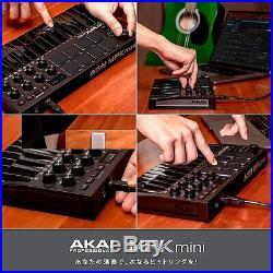 Akai Mpk Mini MK3 Professionnel Midi Contrôleur de Clavier Noir Neuf En Boite
