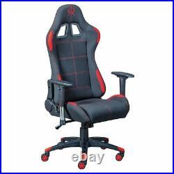 Altobuy GAMER Chaise Gaming Tissu Noir et Rouge Neuf