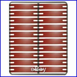 Altobuy RedLine Pack Sommier 2x10 Lattes 160x200cm + Pieds Noirs Neuf