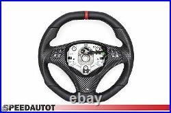 Aplati Volant BMW M-POWER E92, E93 Neuf Cuir Couverture Mfu Rouge