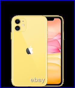 Apple IPHONE 11 64 128 256 Noir Blanc Rouge Jaune Vert Alto Neuf Original