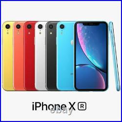 Apple iPhone XR 64Go Bleu Noir Orange Rouge Blanc Jaune iOS Caméra Débloqué NEUF