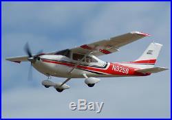 Art Tech Cessna 182 500 Classe RC Télécommandé Avion Rouge (Pnp) Nouveau
