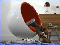 Art deco design Fauteuil Ball Chair Eero Aarnio neuf noir et blanc