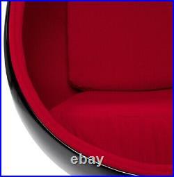 Art deco design fauteuil uf neuf rouge et noir