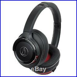 Audio-Technica ATH-WS660BT Solidbass Bluetooth sans Fil Casque Noir Rouge Neuf