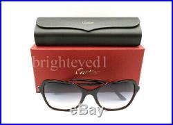 Authentique Cartier Double C Noir/Rouge Lunettes de Soleil ESW00106 Neuf