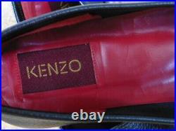 Authentique Mocassin Kenzo Noir Rouge Vintage Parfait Etat Neuf T. 37