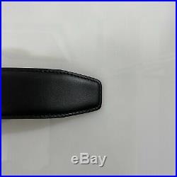 B-584119 Neuf Salvatore Ferragamo Cuir Noir Rouge Ceinture Boucle 85/34 pour 32