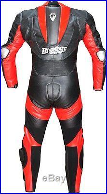 BIESSE COMBINAISON MOTO EN CUIR XS S M L XL NEUF 1 partie 48 50 52 54 Noir Rouge