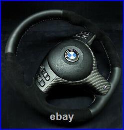 BMW E46 E39 E38 Personnalisé SPORT M Direction Assistée Roue Carbone alcantara
