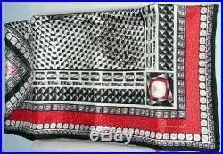 Baccarat Écharpe Soie Neuf Louxor Sergé Noir Blanc Rouge 39sq En 2809043 Boîte