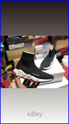 Balenciaga Speed Trainers Noir Blanche Et Rouge Neuf Sous Emballage