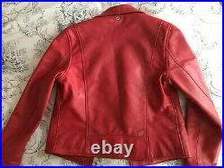 Blouson cuir SCHOTT Femme PERFECTO LCW 8614 Red Rouge XL, neuf