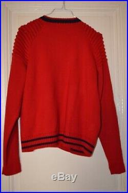 Blouson laine pressionné rouge et noir Maje taille 1, neuf
