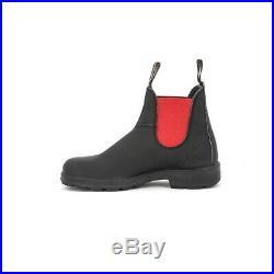 Blundstone Royaume-Uni 7 Noir Rouge Premium 100% Original Neuf