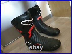 Botte Moto Neuf Rouge et Noirs Alpinestars Jamais porté T46-T47