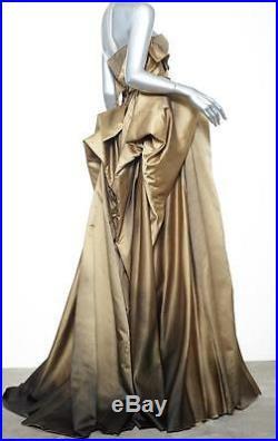 Bottega Veneta K Tapis Rouge or Ombre Long Bretelles Robe Événement 40/4 S NEUF