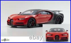 Bugatti Chiron Rouge Noir Résine 2016 112 Kyosho Neuf Emballage D'Origine