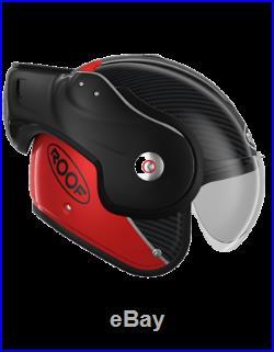 Casque ROOF RO9 Boxxer Carbon noir rouge convertible fibre moto maxiscooter NEUF