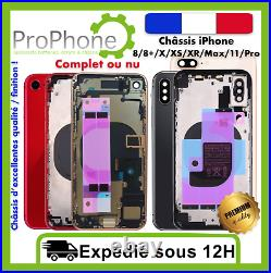 Châssis arrière iPhone 8/8+/X/XS/Xr/11/ Pro Max nu Complet Qualité 100% Neuf