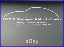 Coccinelle 1200 Brezel Cabriolet en 112 SUNSTAR 1949 Volkswagen Neuf 5211