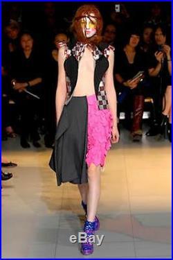 Comme des Garcons Femmes Noir+Rouge Multicolor Sequin Carreaux Débardeur M Neuf
