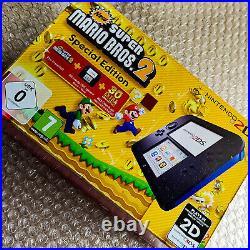 Console NINTENDO 2DS New Super Mario Bros 2 Noir Bleu Pal NEUF