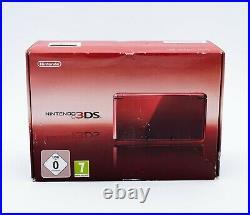 Console NINTENDO 3DS Rouge Métal Boite Abimée Pal Eu NEUF Scellé 01