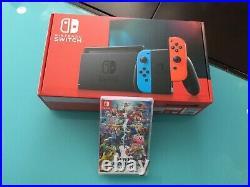 Console Nintendo Switch 32 Go Bleu/Rouge + Jeu Super Smash Bros Hits Neuf