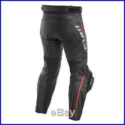 Dainese Delta 3 Pantalon Noir/ Rouge Fluo Gr. 48 Sport Course Combiné Neuf