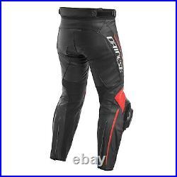 Dainese Delta 3 Pantalon Noir/ Rouge Fluo Gr. 52 Sport Course Combiné Neuf