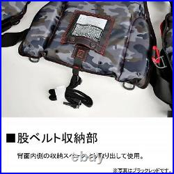 Daiwa Flotteur Jeu Gilet Noir Rouge Gratuit Taille DF-6206 Japon Neuf