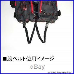 Daiwa Pêche Flotteur Jeu Gilet Vie Preserver Noir Rouge DF-6206 sans Taille Neuf