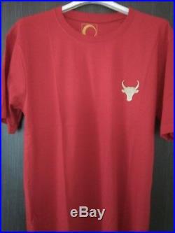 Déstockage Lot 700 T shirt Taureau blanc rouge noir neuf étiqueté 100% coton