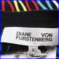 Diane von Furstenberg Robe Gr. S Noir Rouge Robe Femmes Neuf Robe