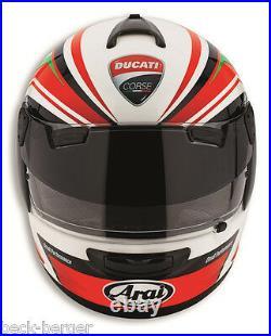 Ducati Arai Chaser V SBK II Pro Shade Casque Parasoleil Noir Rouge Neuf