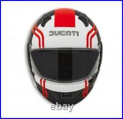 Ducati Arai Renegade V 77 Casque Intégral Noir Rouge Blanc Casque Neuf