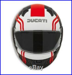 Ducati Arai Renegade V 77 Casque Intégral Noir Rouge Blanc Neuf 2020